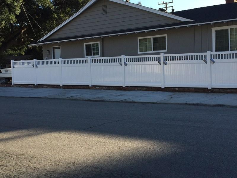Semi Privacy Vinyl Fences