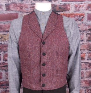Burgundy herringbone #1154