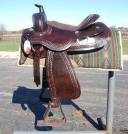 Draft Horse Western Saddle 4024 - Brown