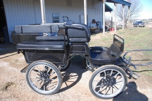 The Frontier Equestrian Marathon Carriage Black & Silver