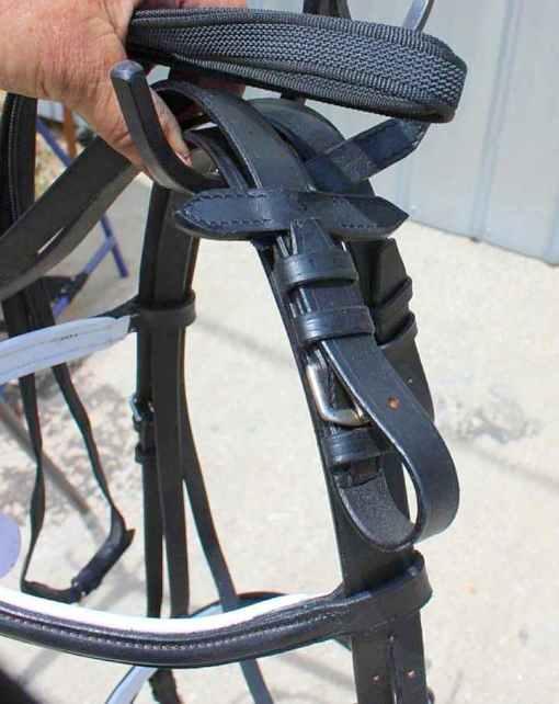 qh english bridle rubber reins