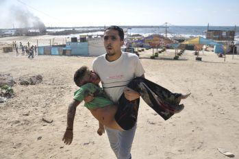 Palestine Quand-les-enfants-tombent-sous-les-bombes