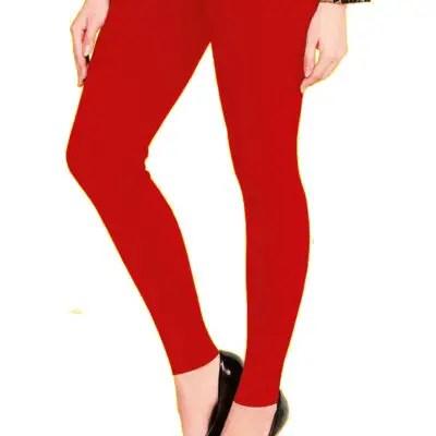 Shree Ganesh Red Leggings