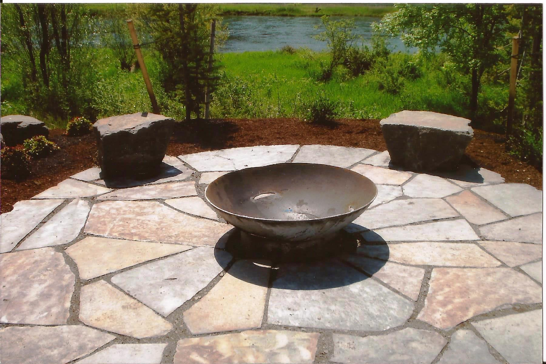 Maximize your Summer Landscape with Patios!   Frontier ... on Paver Patio Designs With Fire Pit id=42765