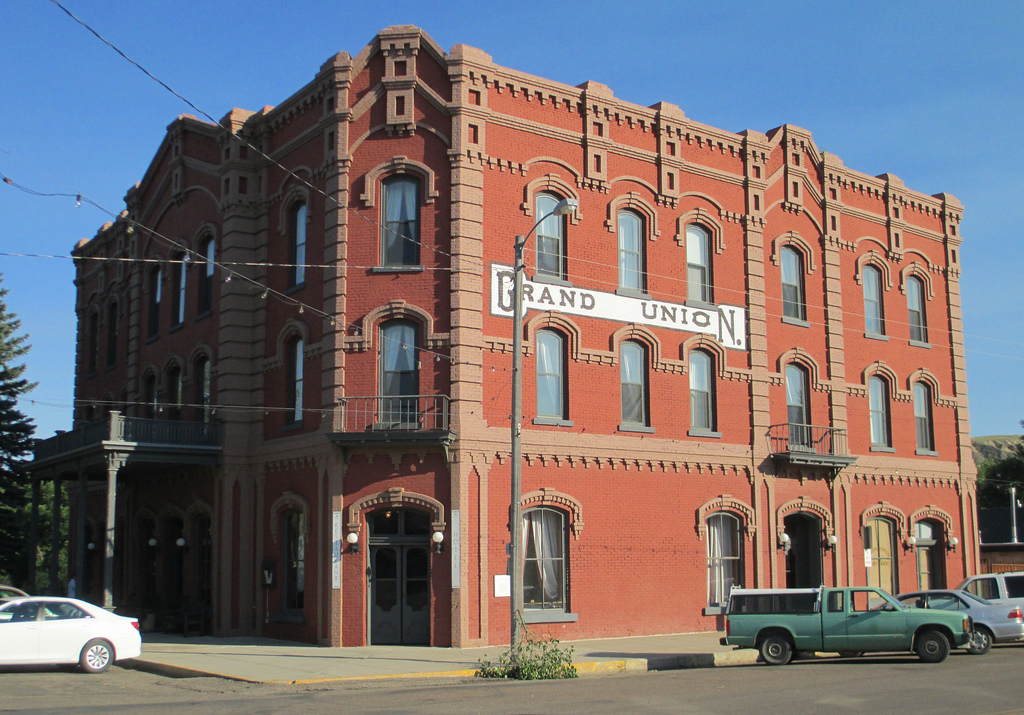 The historic Grand Union Hotel, Fort Benton, Montana