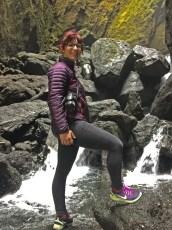 Hiking through Thorsmork to the hidden waterfall.