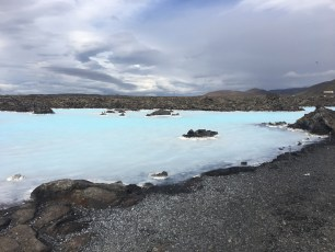 The shore of the Blue Lagoon.