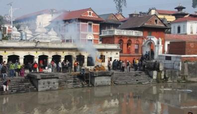 Cremation Ghats on Bagmati River, Kathmandu