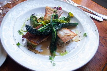 Artic Char with Kale at the Humarhusid Restaurant