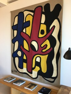Leger canvas in Hotel lobby at Château La Coste