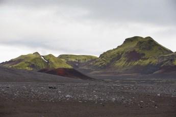 Road across the lava field…