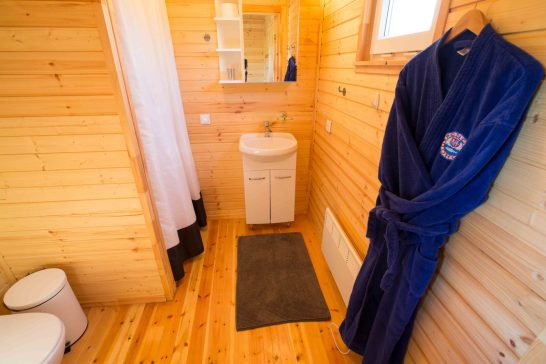 Bathroom interior of the new cabins