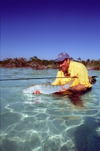 A big bonefish at Mangrove Cay Club, 2008