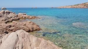 Le acque caraibiche di Cala Sarraina