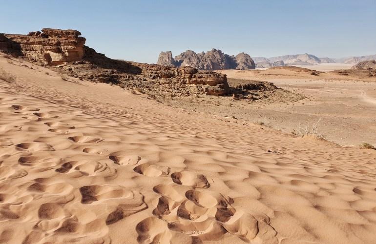 deserto in Giordania
