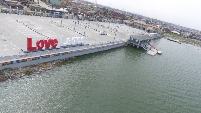 Image result for Ambode commissions Bariga jetty, ferries, Ilaje road