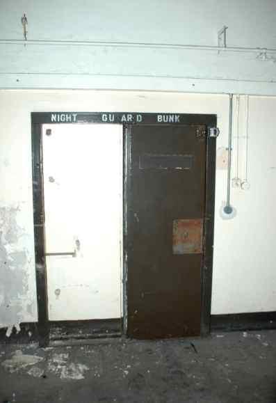 Night guard bunk.