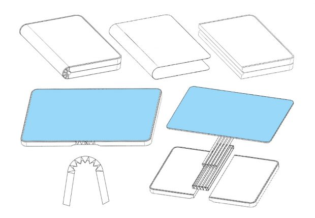 Smartphone Trend 2019: Foldable Smartphones - here patent sketches by Huawei