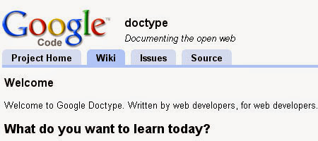 Google Doctype is a new Google project that includes developer and developer articles