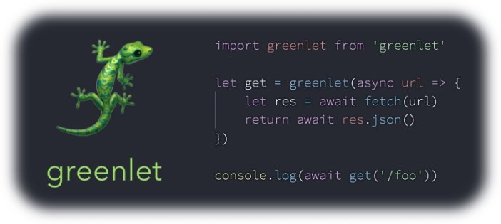 Greenlet put async functions into its threads