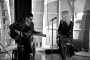 May 20, 2016 - Toronto, ON Canada: Jamie Hince and Alison Mosshart of The Kills perform an acoustic set for 102.1 The Edge listeners at Corus Quay, Toronto (Bobby Singh/Polaris)
