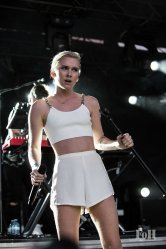 August, 06, 2016: Toronto, Ontario, Canada - New Zealand siblings Georgia and Caleb Nott, collectively known as Broods, perform at the 2016 Time Fest in Toronto (Bobby Singh/Polaris).