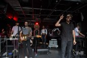 "August, 05, 2016: Toronto, Ontario, Canada - Arkells celebrate the release of their latest record ""Morning Report"" with a live performance at Corus Entertainment's Sugar Beach Studios"