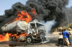 Tanker explosion: Two confirmed dead, five vehicles burnt