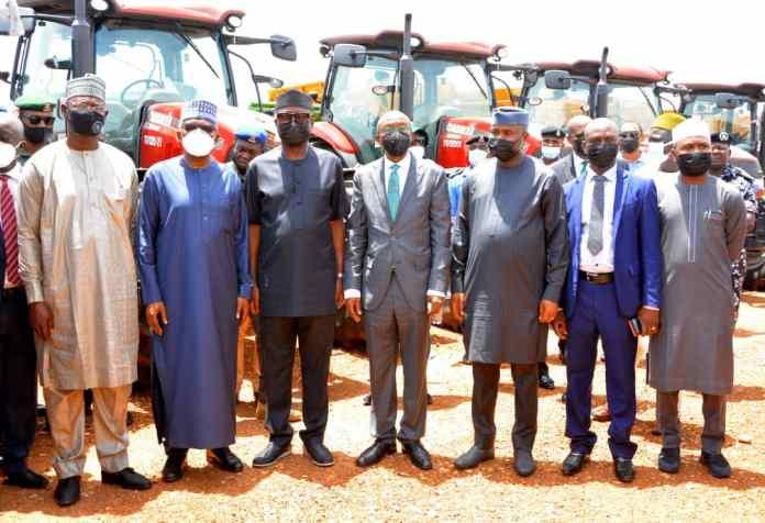 PHOTO NEWS: Gov Sule, Adebayo, Adedeji tour Dangote Sugar refinery