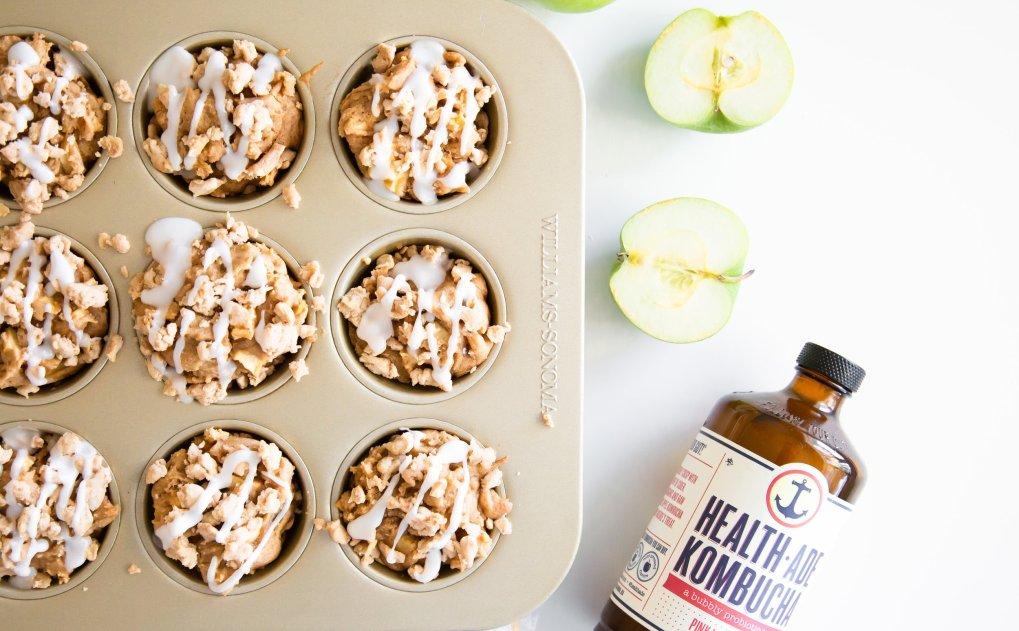 Kombucha apple spice cupcakes