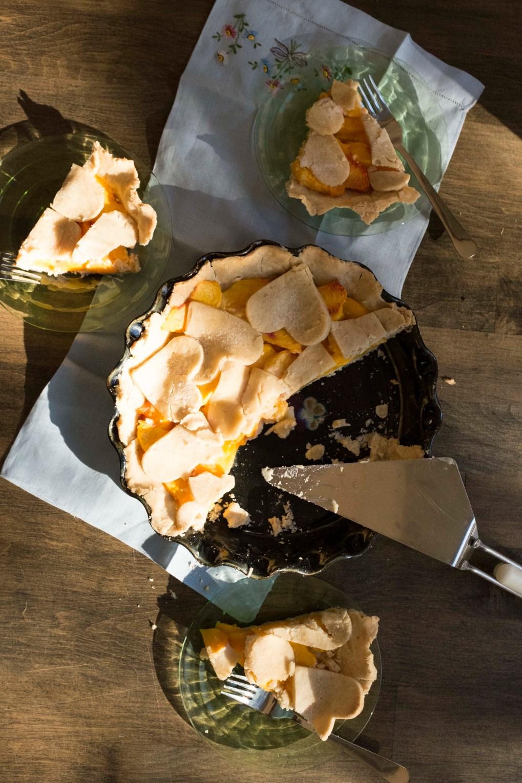 gluten-free & vegan Peach Pie