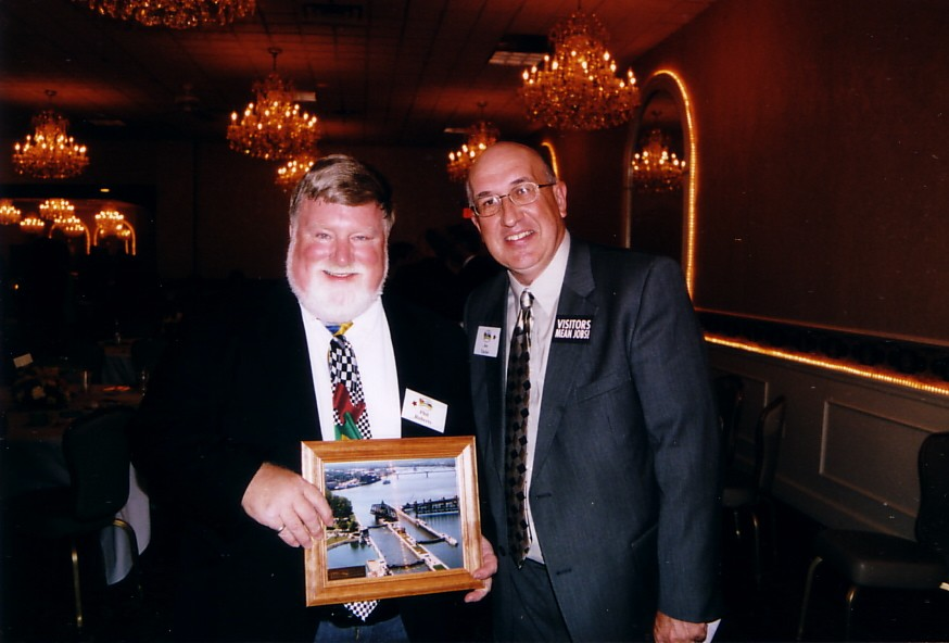 A special award from Joe Taylor and the QCCVB folks.