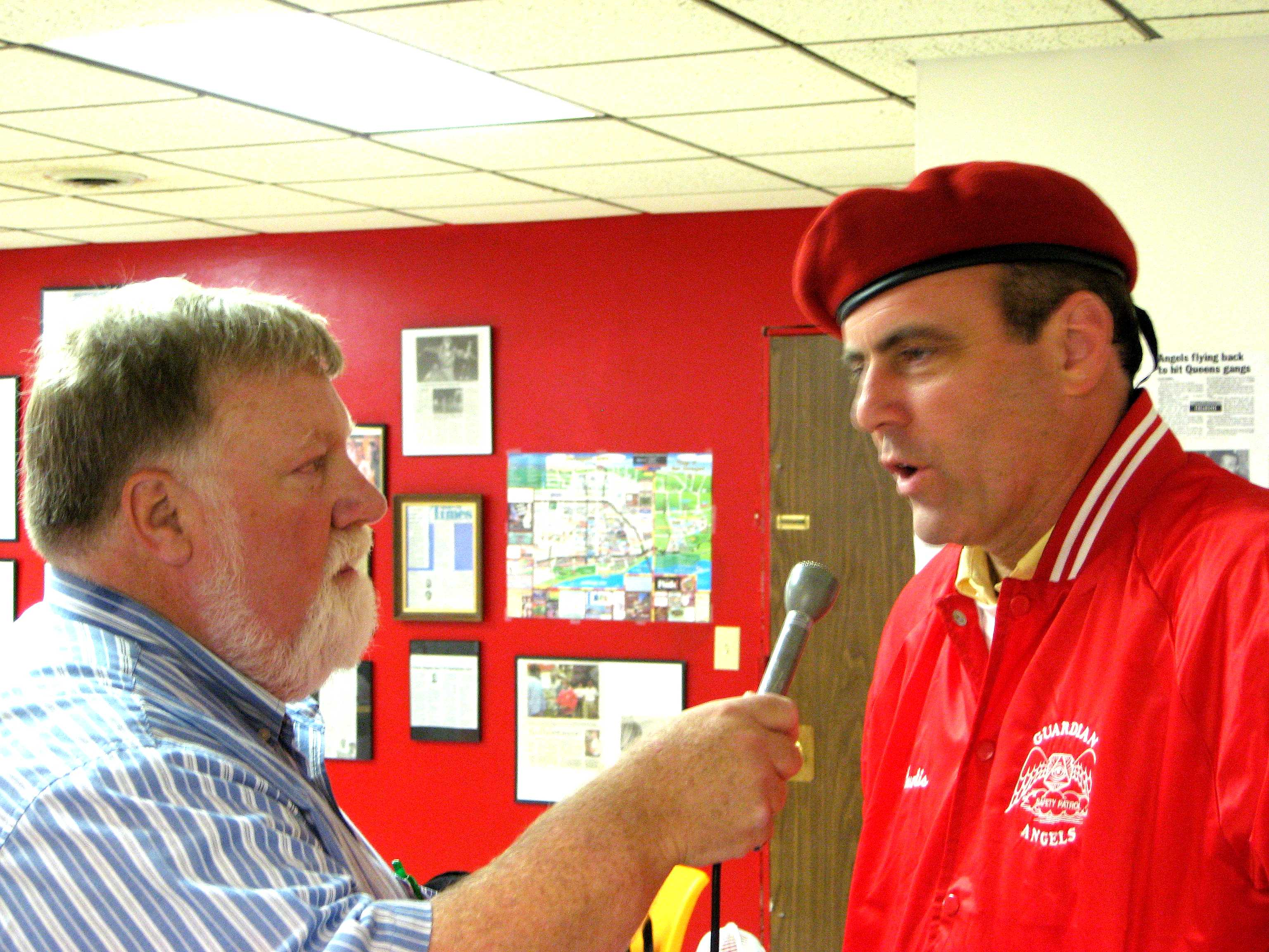 This is a July 2007 interview of Guardian Angels found Curtis Sliwa/