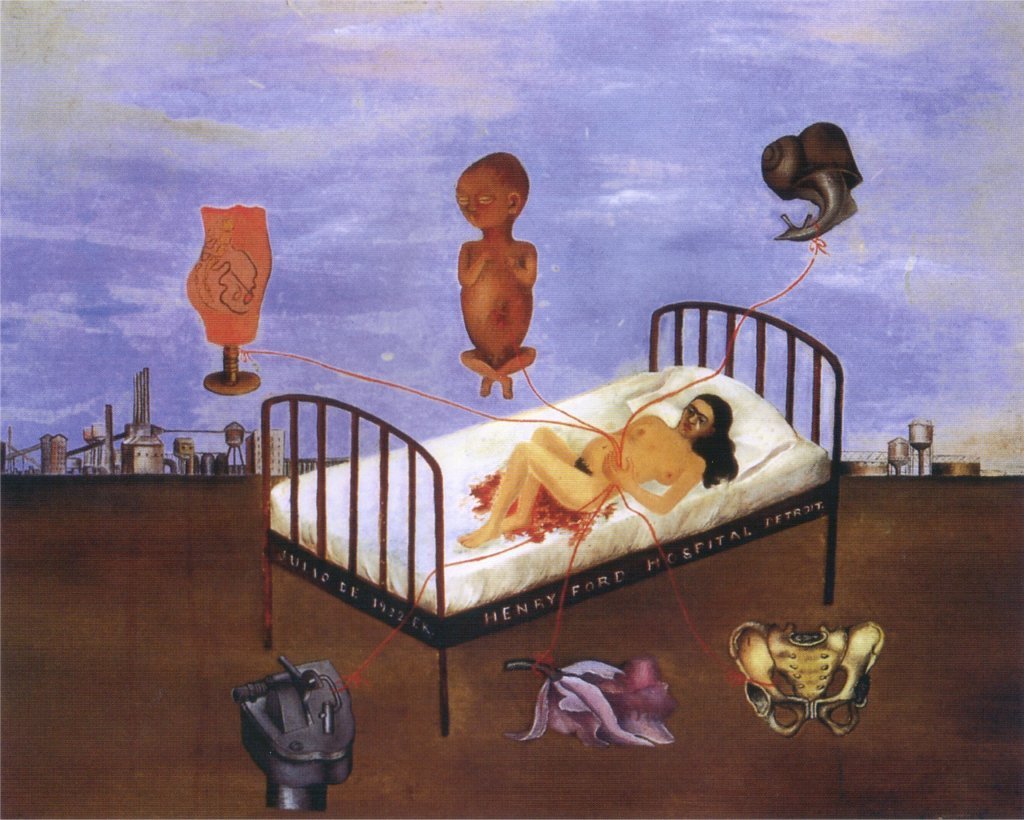"Frida Kahlo, ""Henry Ford Hospital (The Flying Bed)"" (1932)"