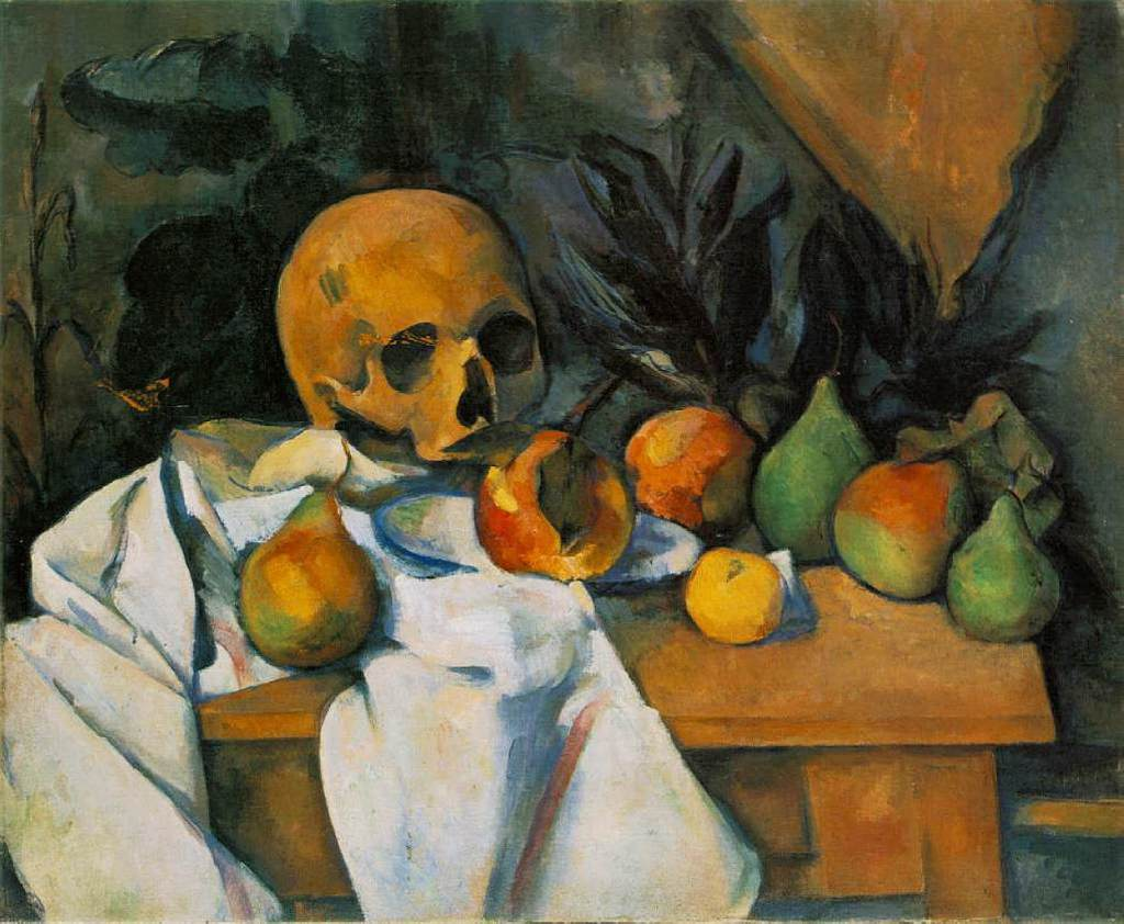 "Paul Cezanne, ""Still Life with Skull"" (1898)"