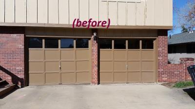old metal garage door
