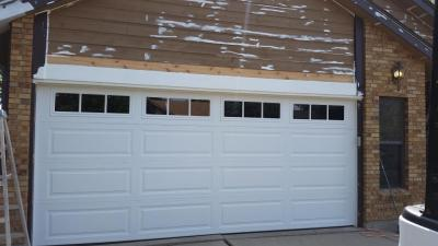 Attractive White Garage Door With Windows