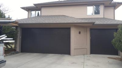 Dark Contemporary Style Flush Garage doors