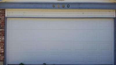 white Non-Insulated Steel garage door replacement