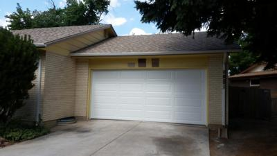 white Non-Insulated Steel garage door