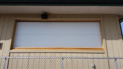 white Contemporary Style Flush Garage doors