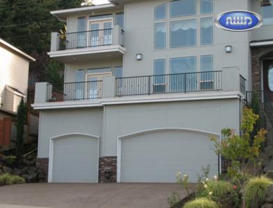 Two Contemporary Style Flush Garage doors