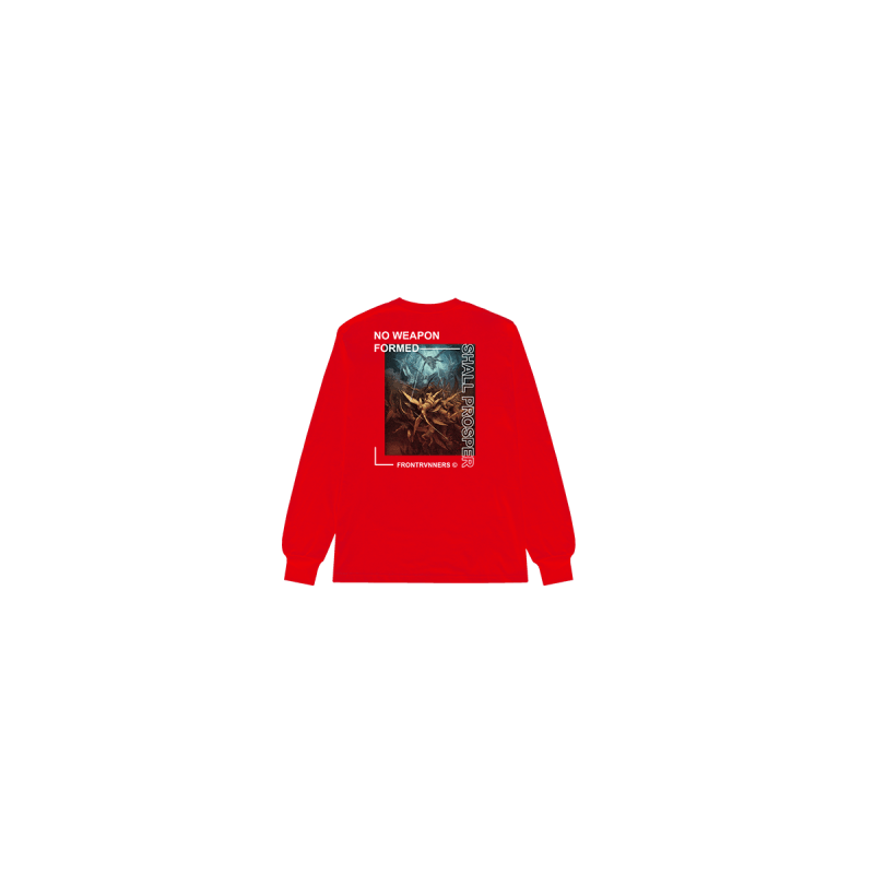 No Weapon Formed Shall Prosper Long Sleeve Red Back
