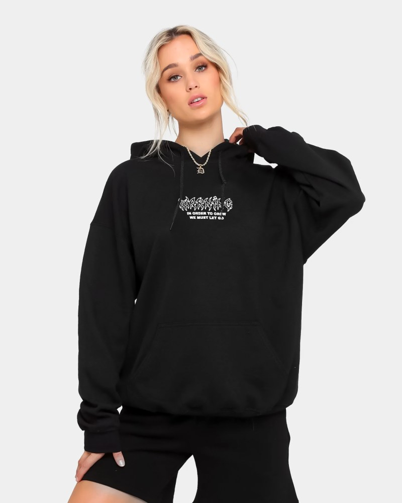 WARNING SIGN HOODIE FRONT