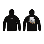 WARNING SIGN HOODIE FRONT AND BACK