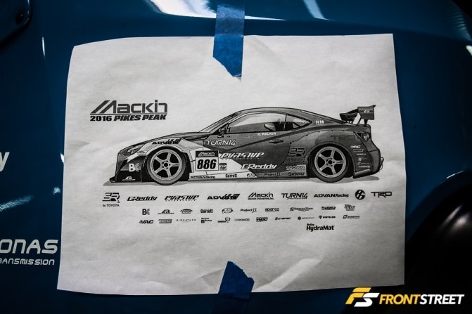 The Mackin Industries Toyota 86 Pikes Peak Racer