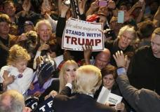 Republican presidential candidate Donald Trump greats supporters after after speaking at a rally in Fort Worth, Texas, Friday, Feb. 26, 2016. (AP Photo/LM Otero)