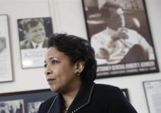 n this Jan. 12, 2017 photo, Attorney General Loretta Lynch speaks during an interview with The Associated Press at the University of Baltimore School of Law in Baltimore. (AP Photo/Patrick Semansky)