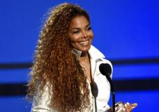 FILE - In this June 28, 2015, file photo, Janet Jackson accepts the ultimate icon: music dance visual award at the BET Awards in Los Angeles. In a video posted on her Twitter account May 1, 2017, Jackson confirmed a rumored split with her husband and says plans to resume the world tour she called off more than a year ago during her pregnancy with her son, who was born in January. (Photo by Chris Pizzello/Invision/AP, File)