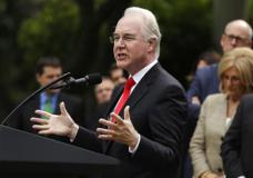 FILE - In this Thursday, May 4, 2017, file photo, Health and Human Services Secretary Tom Price speaks in the Rose Garden of the White House in Washington, after the House pushed through a health care bill. Cutting nearly $1 trillion from Medicaid will give states the freedom to tailor the program to suit their needs, Price said Sunday, May 7, as he defended a narrowly passed House bill that aims to undo parts of the health care law enacted by the previous administration. (AP Photo/Evan Vucci, File)